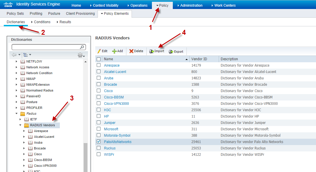 Cisco ISE 2 3 as authenticator for Palo Alto Networks Firewalls